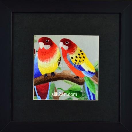 A couple of Golden Parrots